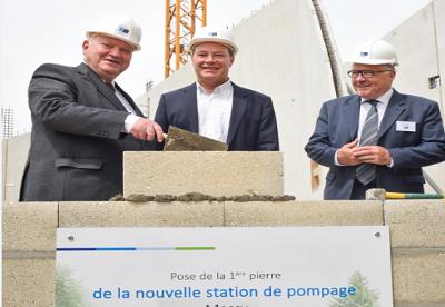 SEDIF : première pierre pour la station de Massy