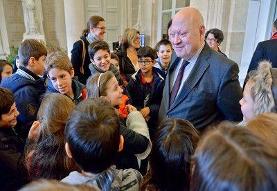 Les CM2 de l'école Justin-Oudin d'Issy au Palais-Bourbon