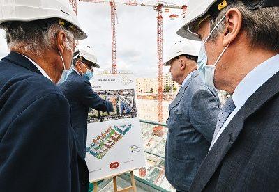 André Santini sur le chantier du futur Cœur de Ville