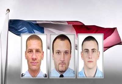 Hommage aux trois gendarmes tués dans le Puy-de-Dôme